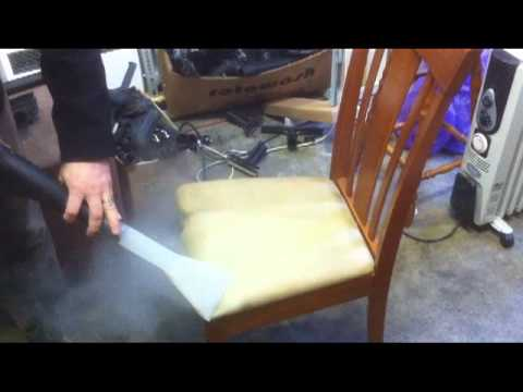how to use a steam cleaner on upholstery