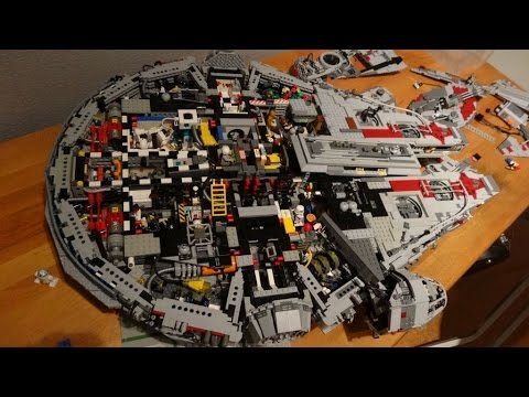 Lego ucs episode vii millenium falcon 2015 with for Interieur faucon millenium