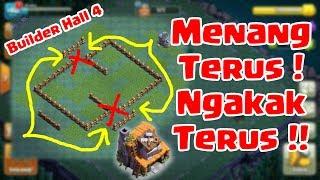 Troll Base Terkuat dan Terlucu di BH 4   Tak Terkalahkan + Kejadian Keren - COC Indonesia