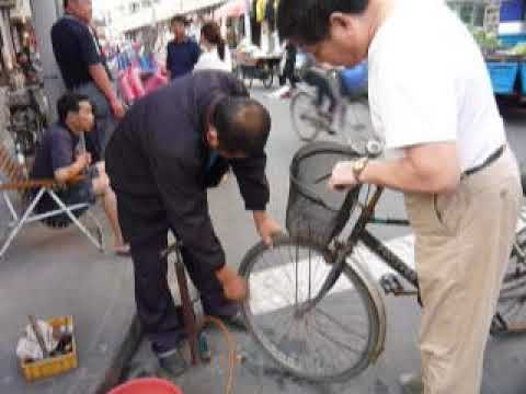 Bicycle tyre repair – Shanghai