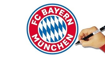 How to Draw the FC Bayern Munich Logo - HowToForKids