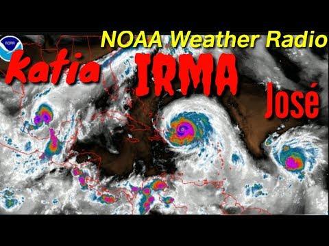 Hurricane Irma, Katia and Jose, forecast, NOAA Weather Radio, Florida 7 day forecast ptember 7, 2017