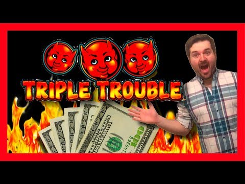 Triple The Trouble TRIPLE THE FUN! BIG WINNING On Triple Trouble Slot Machine Bonus With SDGuy1234! - 동영상