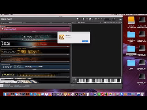 """How to add Libraries in Kontakt when you get  """"no library found"""""""