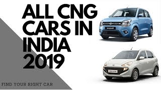 All Factory Fitted CNG Cars || Available In India ||2019||
