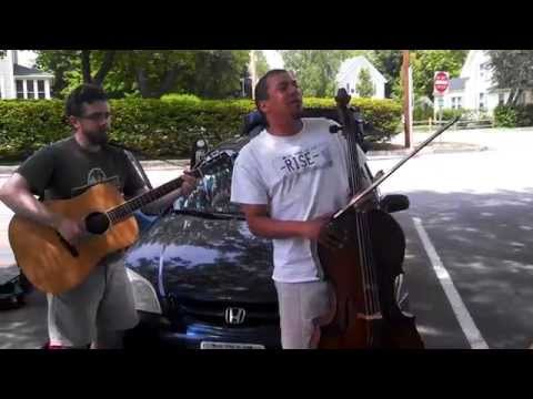 RISE! with some picking in the New Hampshire Public Radio parking lot prior to The Folk Show!