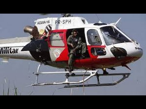 EP8 Grupamento Aéreo da Polícia Militar (PMESP) Aguias da cidade EP8 (HD)