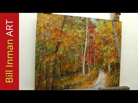 how-to-paint-trees-with-fall-leaves---'early-one-morning'-oil-painting-by-bill-inman
