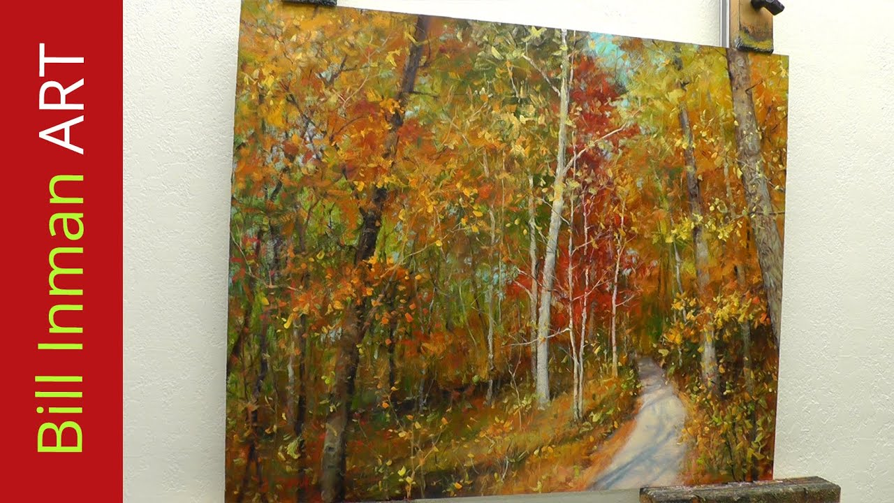 how to paint trees with fall leaves early one morning