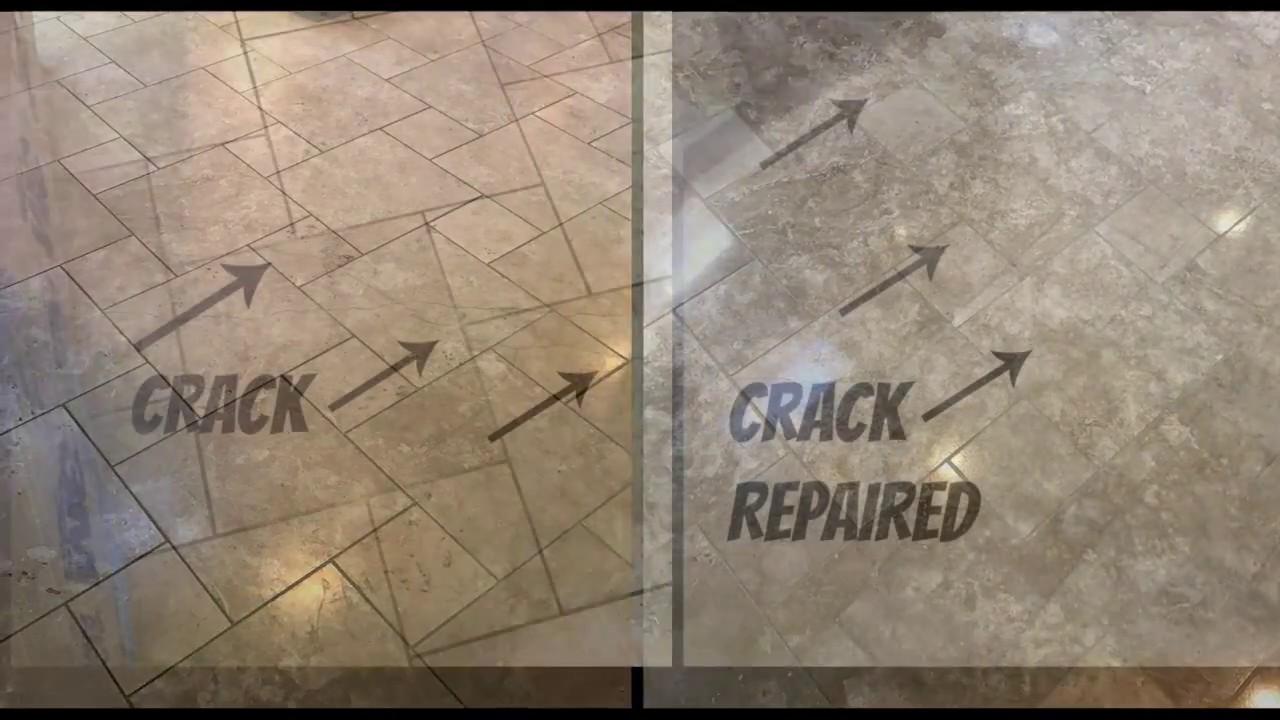 Travertine Crack Repair Tempe Az With Tile Girl Youtube