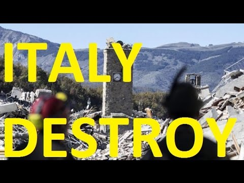 EARTHQUAKE DESTROY CENTRAL ITALY -NORCIA -SHOCK 6.6 FELT IN ROME  -breaking news