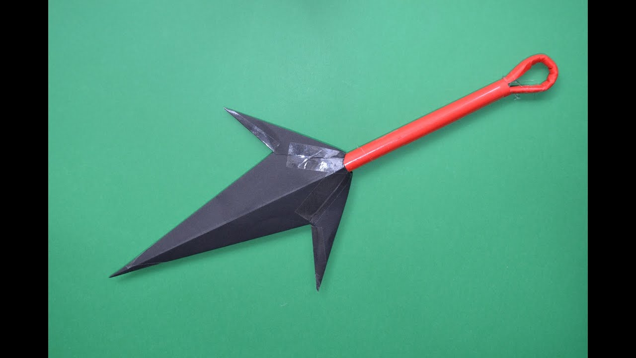 How To Make A Paper Kunai Youtube