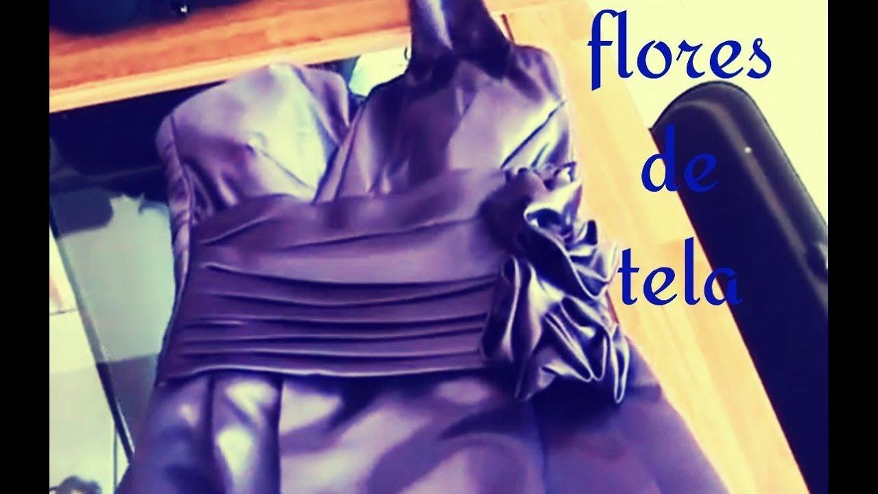 Como hacer flores de tela facil y rapidas jazmin gastelum youtube - Flores de telas hechas a mano ...