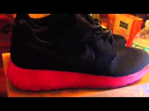 Nike Roshe Run Black Siren Red Amazon