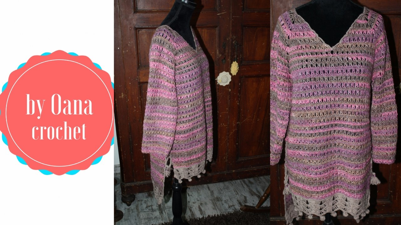 6374c721520f Crochet broomstick lace tunic by Oana