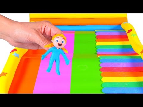 SUPERHERO BABIES & THE MULTICOLOR SLIDE 鉂� Superhero Babies Play Doh Cartoons For Kids