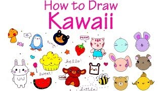 How to Draw Kawaii Cute Animals  Characters 2 Easy to