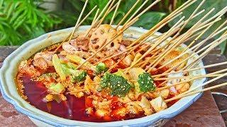 Chuanchuan Xiang - How to Make Sichuan Street Food Chili Oil Skewers (红油串串香)