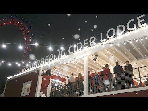 Christmas Markets London Rekorderlig Cider Lodge Southbank