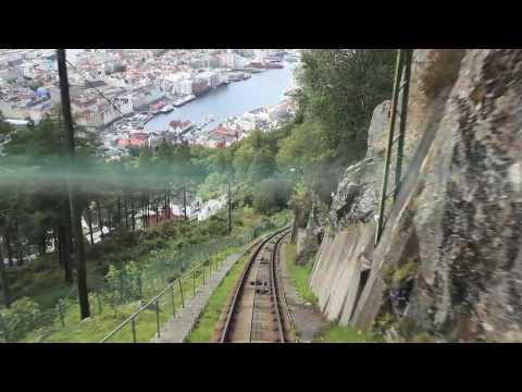 Floi Banen (cable train) in Bergen, Norway