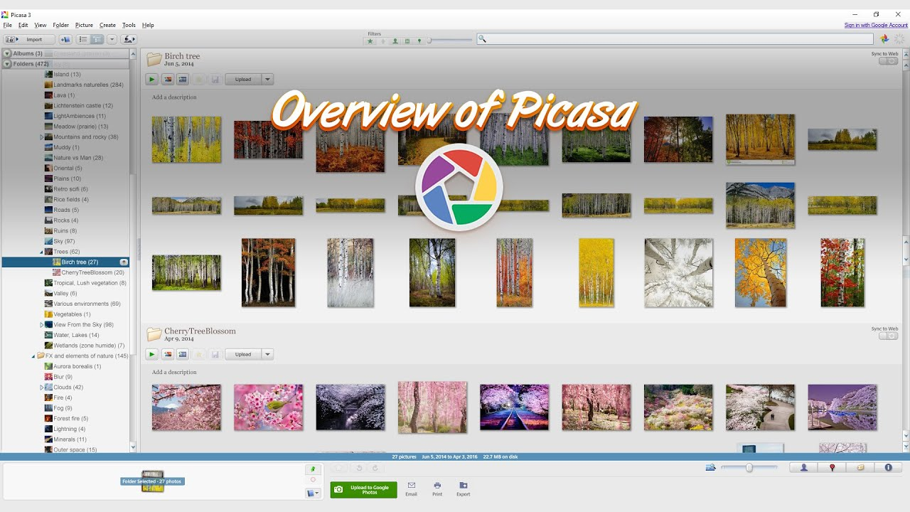 Picasa - a free program to organize your reference images ...