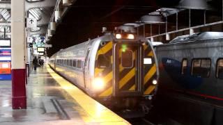 Amtrak & NJ Transit Newark Penn Station Dec 12 2010