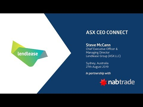 ASX CEO CONNECT - Lendlease Group (ASX:LLC)