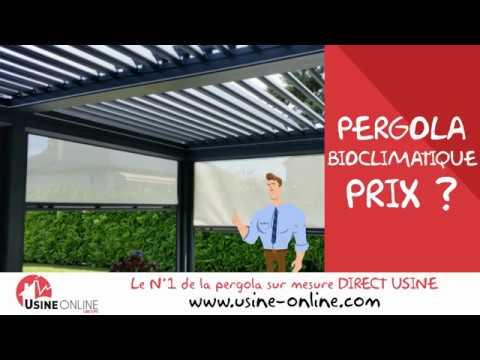 Tarif pergola bioclimatique youtube for Prix d une pergola bioclimatique