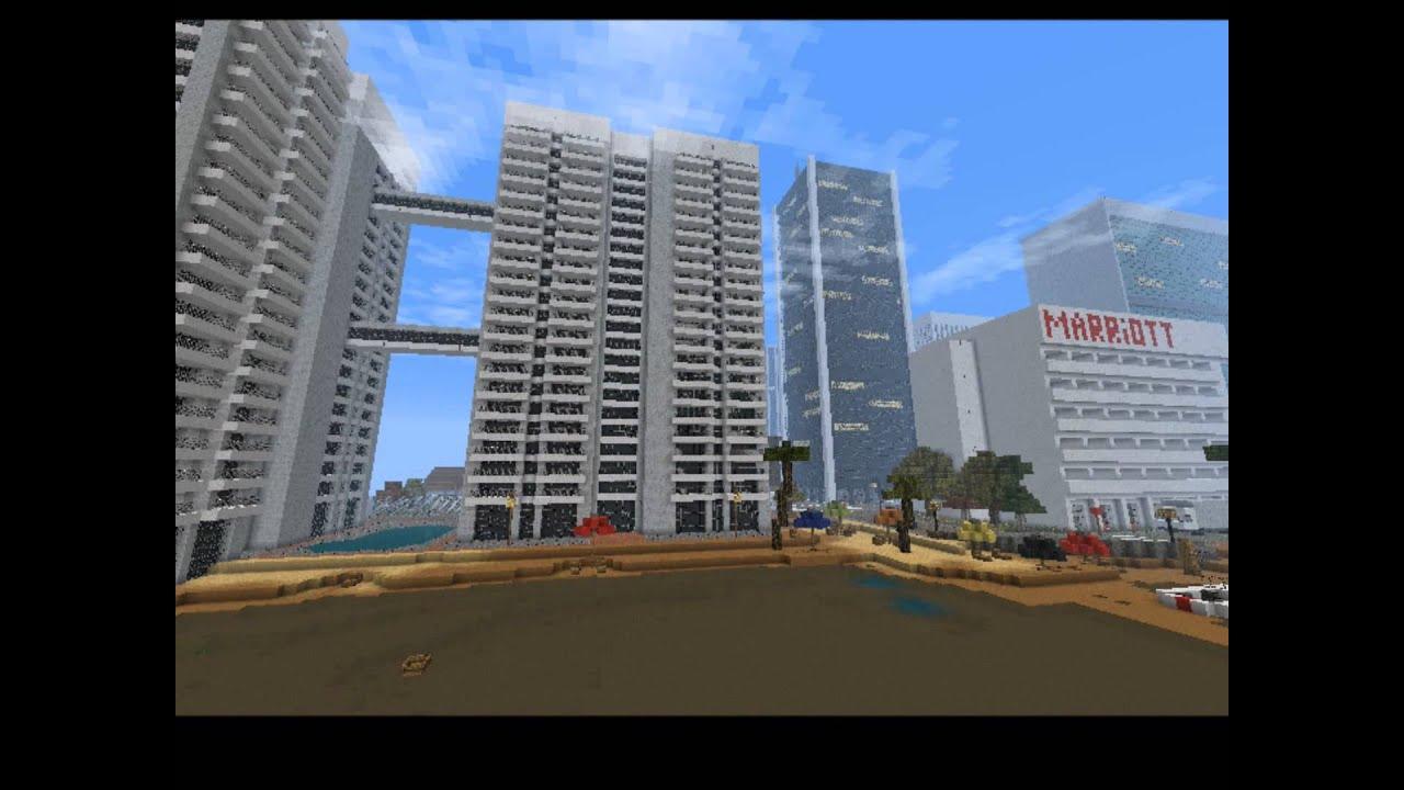 grande ville minecraft sur mon serveur youtube