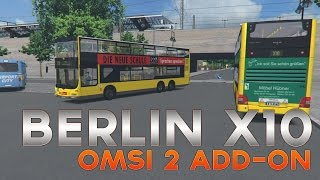 OMSI 2 - AddOn Berlin X10 - Line X10: Zoolog. Garten to Teltow [full route]