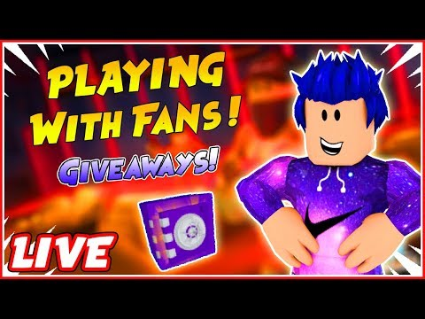🔴ROBLOX GIVEAWAYS JAILBREAK | PLAYING WITH FANS!