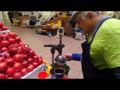 Гранатовый сок. Ручная соковыжималка. Москва Даниловский рынок.