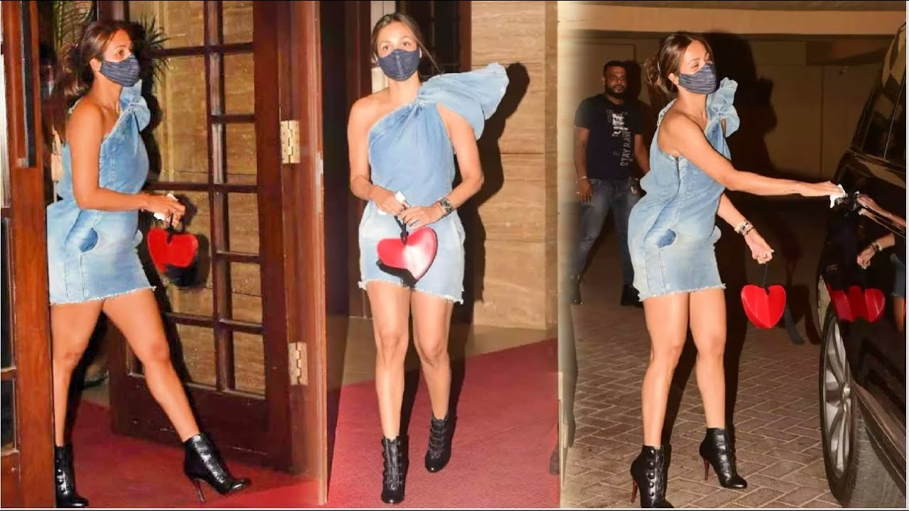 Malaika Arora Makes Heads Turn In One Shoulder Denim Outfit As She Steps Out In The City