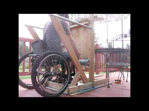 Standing Frame, Homemade DIY Wooden Wheelchair - Traveling USA 7 ...