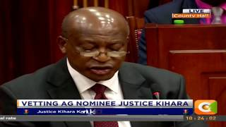 Vetting of Ag Nominee Justice Paul Kihara before the National Assembly committee thumbnail