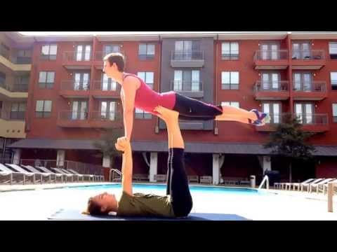 How to Bird Pose Acro Yoga for Beginners