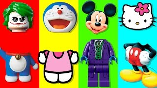 Colors For Children Wrong Heads Bad Baby Hello Kitty Doremon Mickey Mouse Lego City Finger Famiy