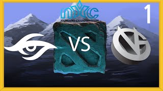 Secret vs Vici Gaming - Game 1 - NYC LAN Grand Finals - LD & GoDz