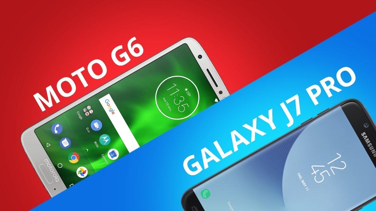 5b42364ff1 Moto G6 vs Galaxy J7 Pro  Comparativo  - YouTube
