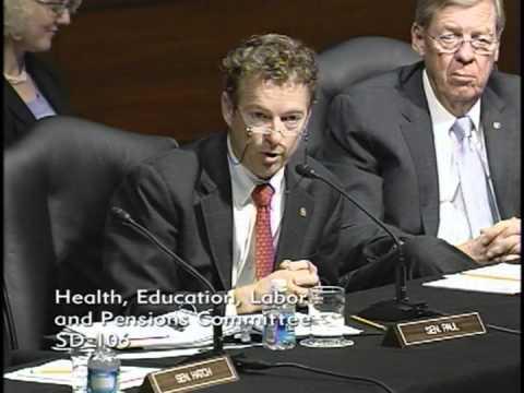 Sen. Rand Paul Speaks at HELP Committee Hearing on NCLB - 11/08/11