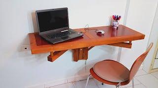 DIY Folding Desk (for narrow compartment)