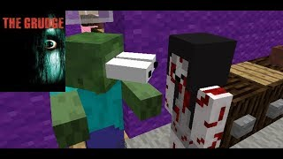 THE GRUDGE HORROR GAME CHALLENGE | MONSTER SCHOOL | Minecraft Animation