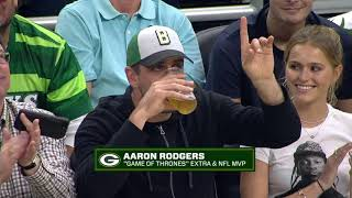 """Game of Thrones Extra"" Aaron Rodgers CHUGS Beers with Packers Offensive Lineman!"