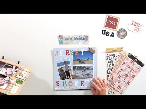 How to Create Page Titles | Scrapbooking