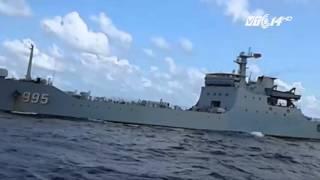 (VTC14)_Tàu chiến Trung Quốc gia tăng vây ép tàu dân sự Việt Nam