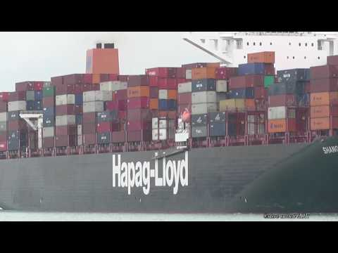 "Hapag Lloyd ""Shanghai Express"" arrives Southampton from Antwerp 7/5/17"