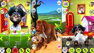 My Talking Tom Vs Talking Mammoth Gameplay Games for Kids HD screenshot 4