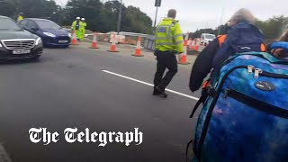 video: Priti Patel orders police to get tough on climate activists after M25 protests