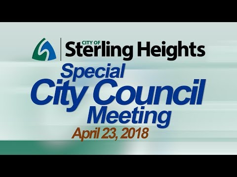 4-23-19 Special City Council Meeting