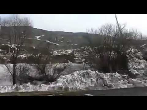 A landslide, made in Russia - this is a typical effect of ground water saturation
